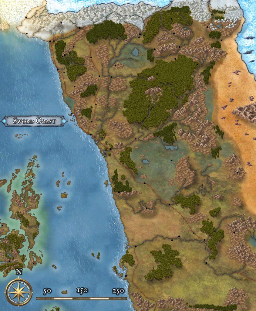 Sword Coast Map Clean 8k