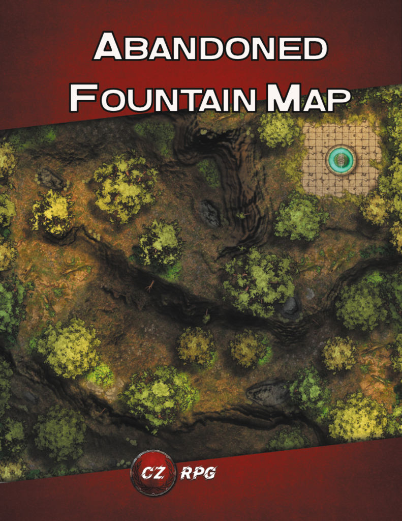 Abandoned Fountain Map Cover