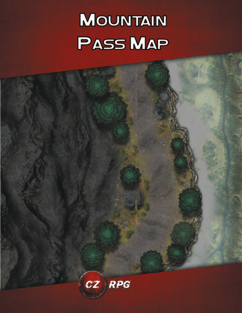 Mountain Pass Map Cover