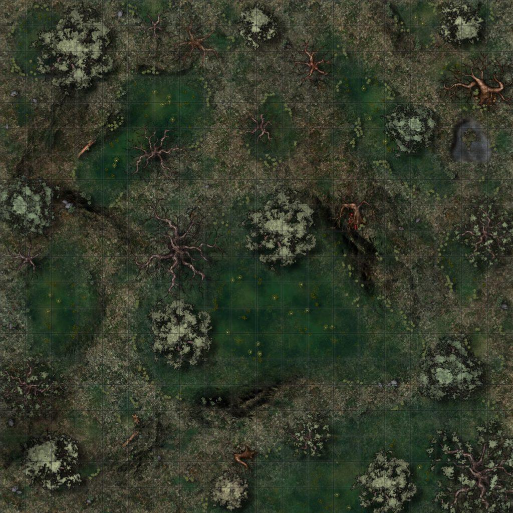 Swamp Encounter - No Mist [20x20 sq - Res 2048x2048]