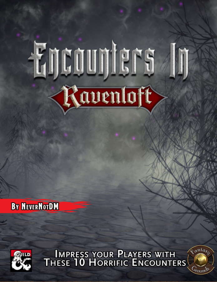 Encounters in Ravenloft Fantasy Grounds Cover