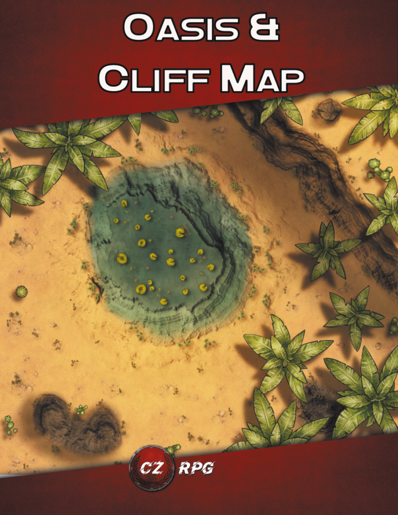 Oasis & Cliff Map Cover