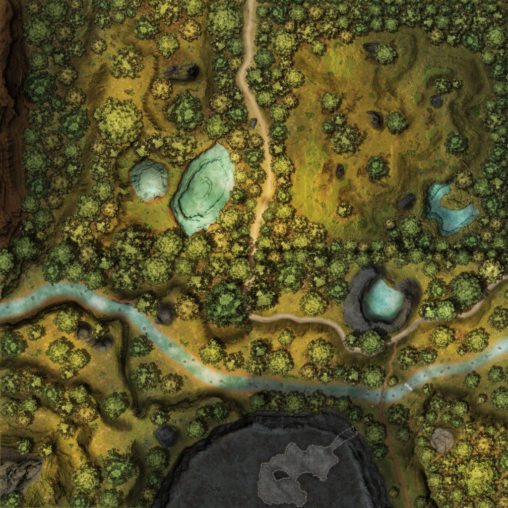 Colossal 120x120 Wilderness Map - Road Gridless [120x120 sq - Res 4096x4096]