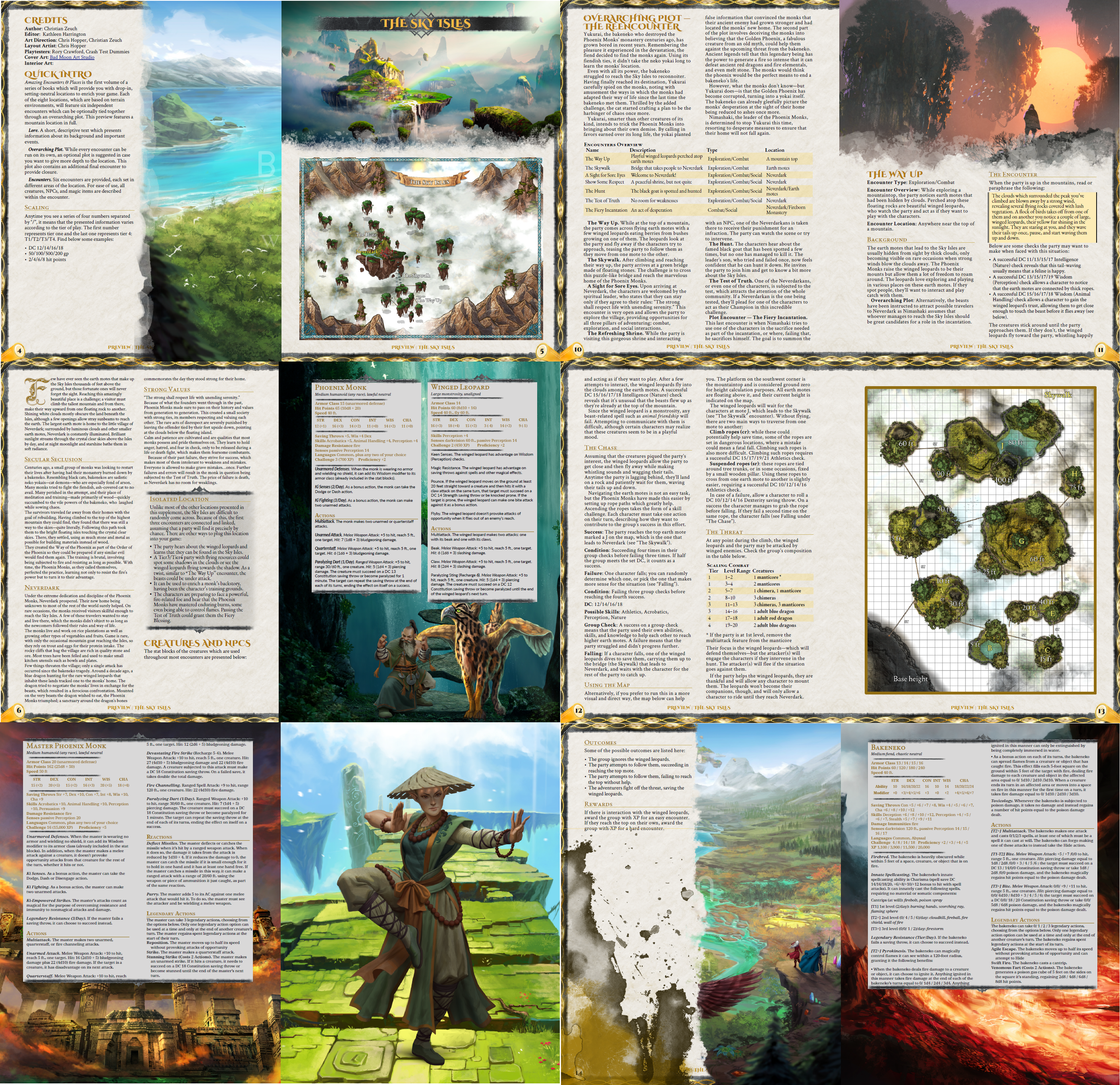 Preview Layout for Amazing Encounters & Places